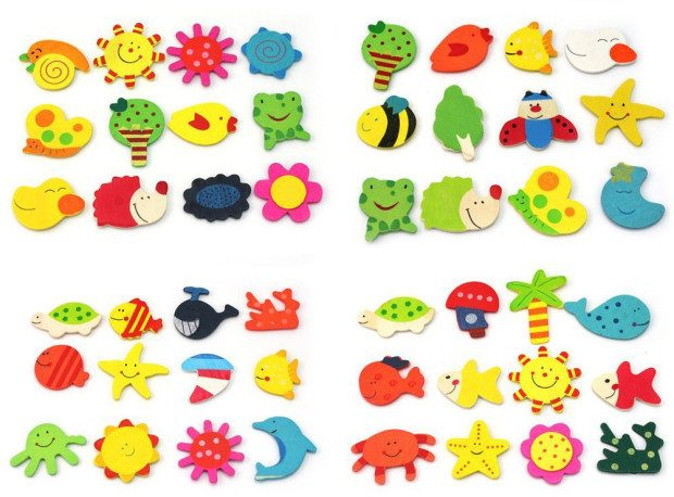 Set of 24 Wooden Animal Magnets Only $2.76 + FREE Shipping!