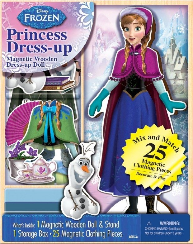 Disney Frozen Anna Wooden Magnetic Playset Was $15 Now Only $4.99!