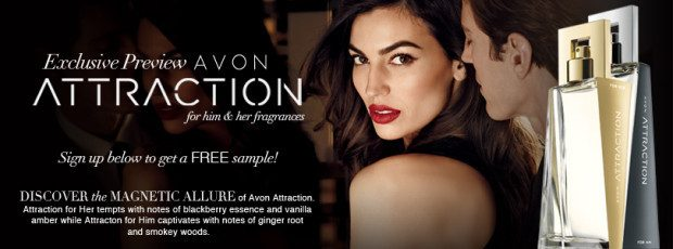 FREE Avon Attraction Fragrance  Sample For Him & Her!