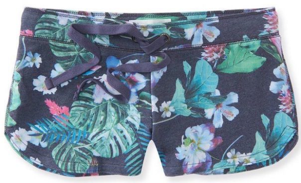 Women's Tropical Dolphin Hem Shorty Shorts Just $8! (Was $30)