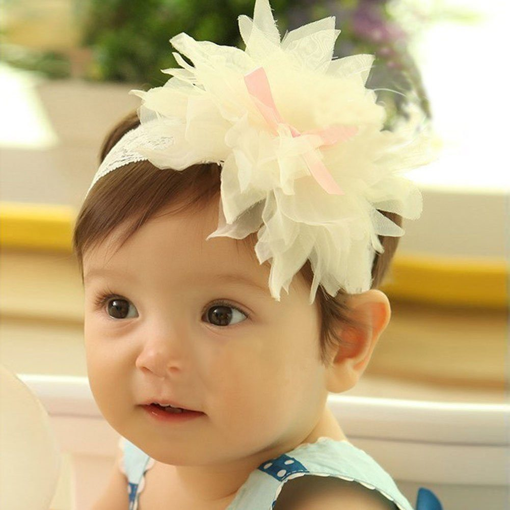 Baby Girl Flower with Elastic Lace Headband Just $1.88 Shipped!