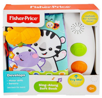Fisher Price - Sing-Along Soft Book With Sounds For Baby Education Just $10 Down From $45!