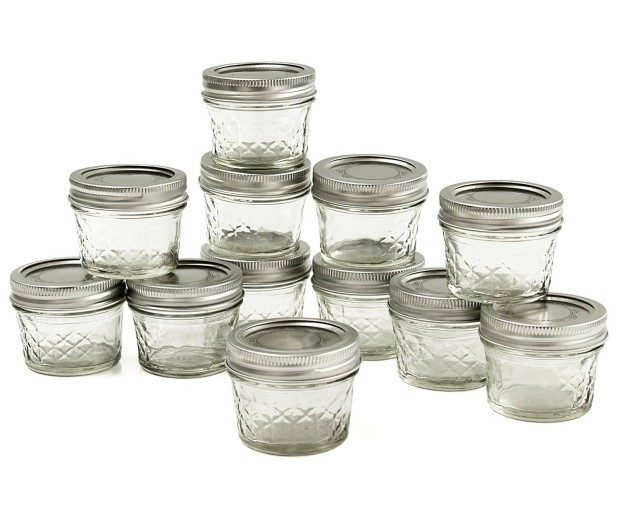 Ball Jar Crystal Jelly Jars With Lids & Bands, Quilted, 4 Oz, Set of 12 Only $8.47!