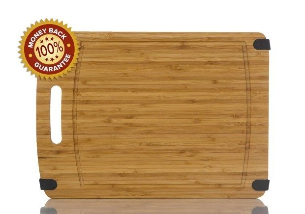 Heavy-Duty Thick 16 X 12 Non Slip Bamboo Cutting Board Only $14.94!  Down From $30!