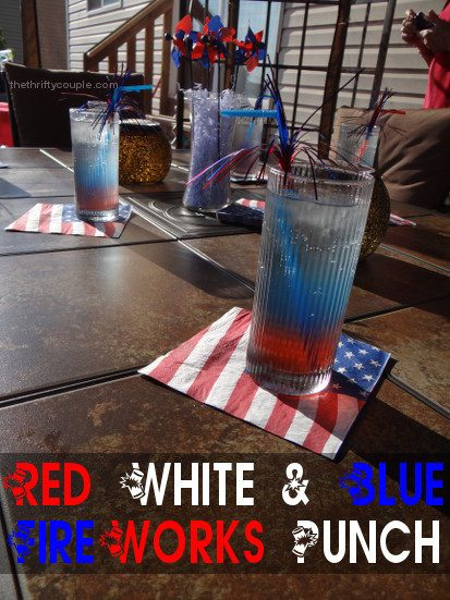 Red, White and Blue Patriotic Fireworks Punch