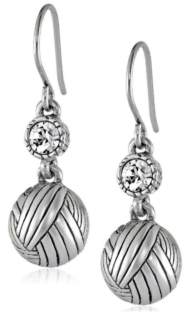Batik Ball with Stone Drop Earrings Only $9.76!