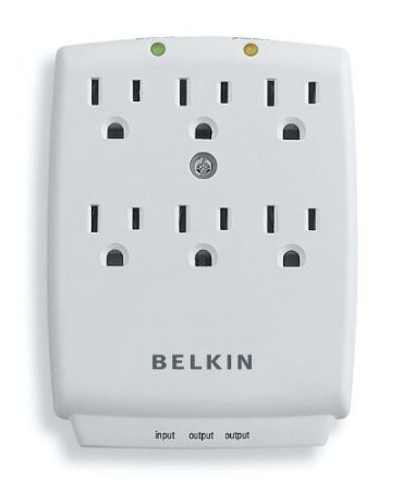Belkin SurgeMaster 6 Outlet Wall-Mount Surge Protector Only $8.45 (Reg. $19.99)!