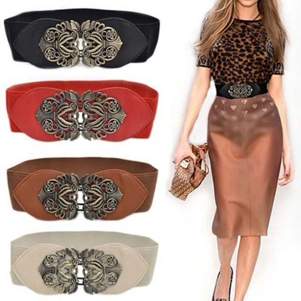 Vintage Wide Elastic Stretch Belt In Black Just $2.97!  Ships FREE!