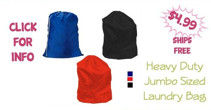 Heavy Duty Jumbo Sized Laundry Bag Just $4.99! Ships FREE!
