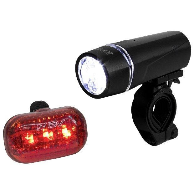 Bicycle Light Set 5 LED Headlight, 3 LED Taillight Just $9.49! Down From $20!