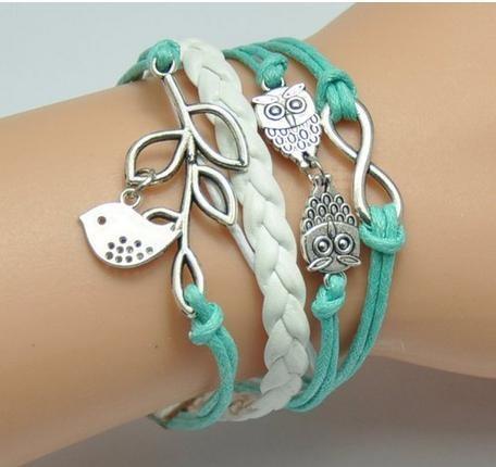 Infinity Wings Owl Strands Suede Rope Bracelet Just $3.36 Shipped!