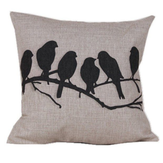Pillow Cover - Birds on a Branch Just $3.67 + FREE Shipping!