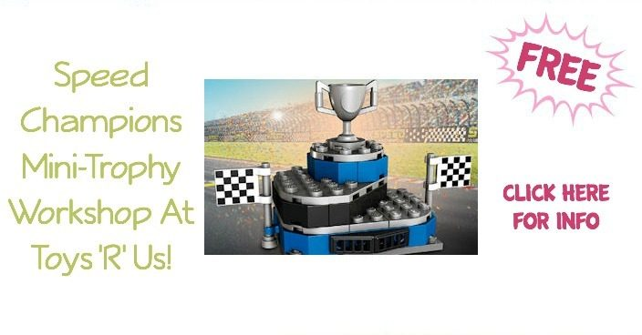 FREE Speed Champions Mini-Trophy Workshop At Toys 'R' Us!