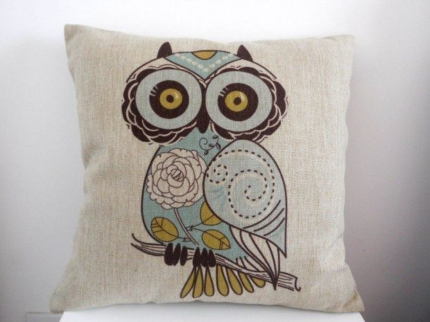 Owl Pillow Cover Just $3.30 + FREE Shipping!