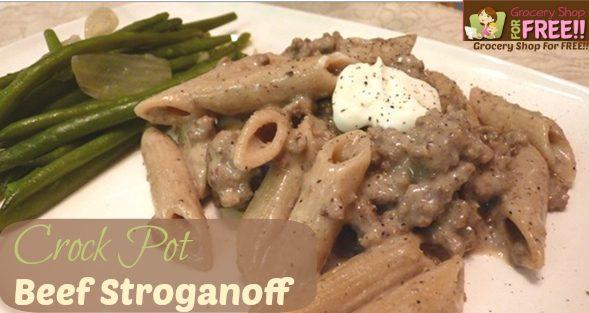 Crock-Pot Beef Stroganoff!