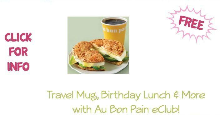 FREE Travel Mug, Birthday Lunch & More with Au Bon Pain eClub!
