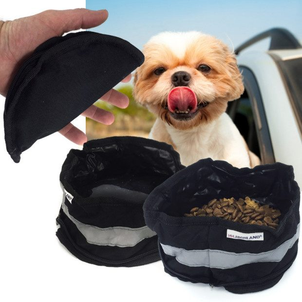 On-The-Go Zip Up Pet Water / Food Bowl Only $2.49 Plus FREE Shipping!