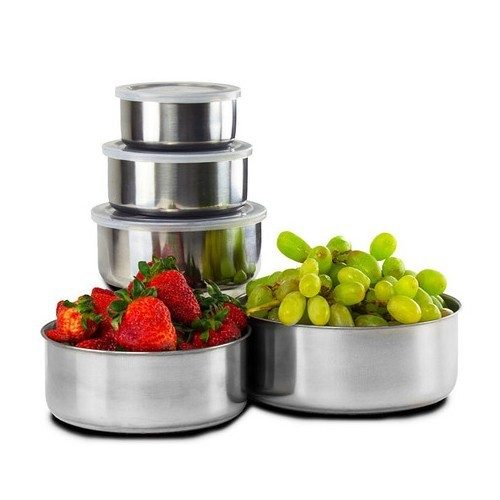 Post image for 5 Piece Set: Home Solutions Stainless Steel Storage Bowl Set with Plastic Lids Just $7.64 Down From $39.99 At GearXS! Ships FREE!