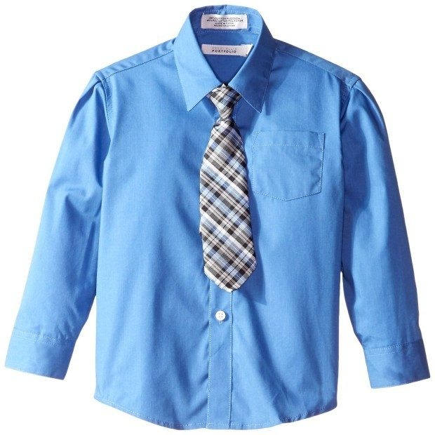 Little Boys' Solid Broadcloth Shirt With Tie Only $5.69! (Reg. $26)