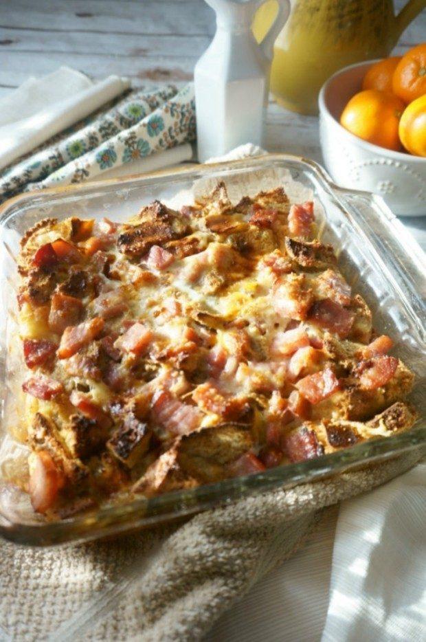 Overnight Ham and Cheese Breakfast Casserole