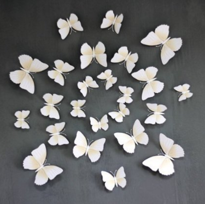 White 24PCS 3D Butterfly Wall Stickers Decor Art Just $2.80 Down From $15.88!  FREE Shipping!
