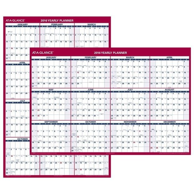 AT-A-GLANCE Wall Calendar 2016 Just $23.99!  (Reg. $44!)
