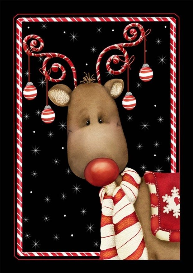 Candy Cane Reindeer 28 x 40-Inch Flag Was $25 Now Only $14.97!