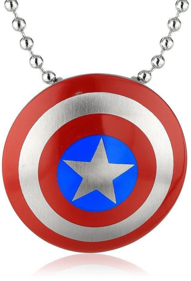 Marvel Comics Unisex Captain America Necklace Just $21.24!