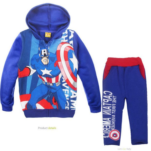Captain America Themed Hoodie & Sweatpants Only $19.80 Shipped!
