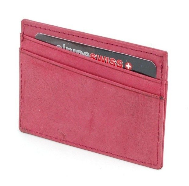 Alpine Swiss Leather Compact Card Case Wallet Just $8.99!