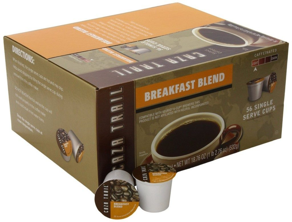 caza trail breakfast blend k-cups