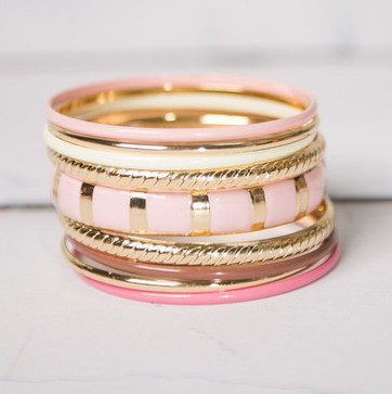 Brylee- Square Print Bangle Set Only $14.95!