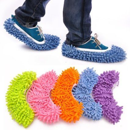 Chenille Washable Dust Mop Slippers Only $3.59 SHIPPED!