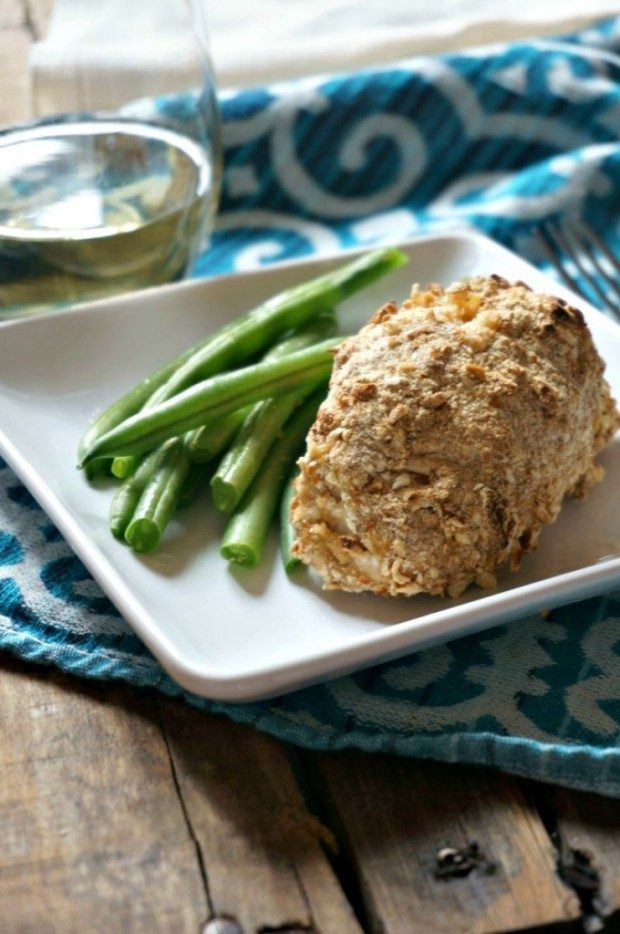 Pretzel Crusted Chicken Cordon Bleu