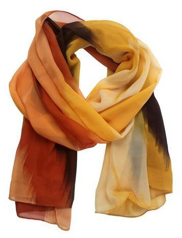 chiffon scarf in fall colors