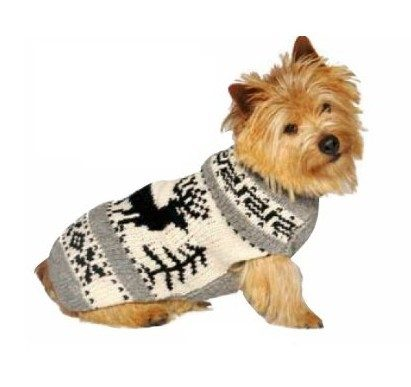 Chilly Dog Reindeer Shawl Dog Sweater, Large Only $12.63! Down From $30!