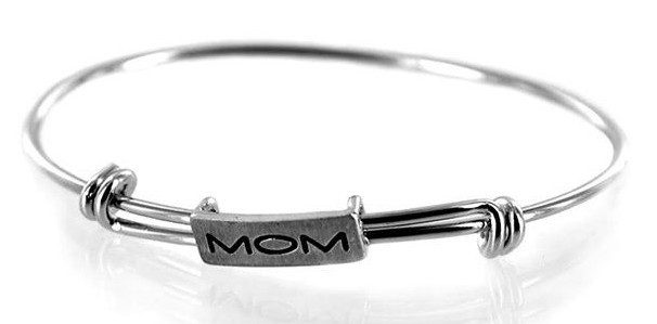 Adjustable Mom Bangle in Sterling Silver Only $13 Shipped!