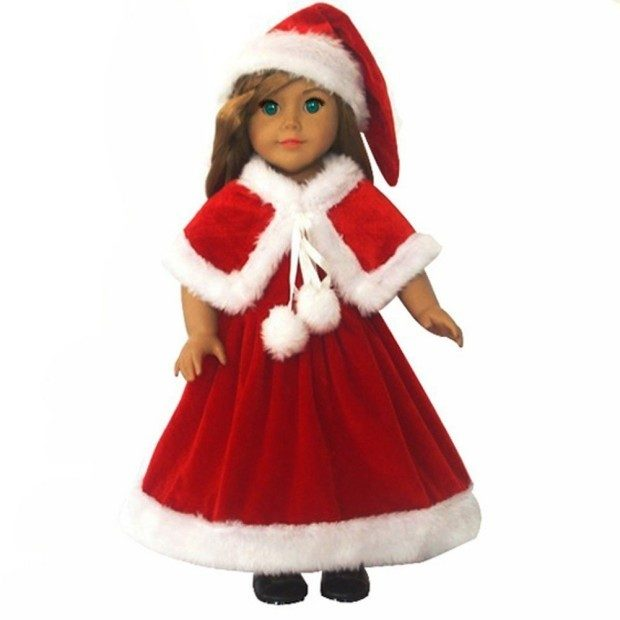 "Compatible With American Girl 18"" Doll - 3 Pc Christmas Outfit Only $14.99!"
