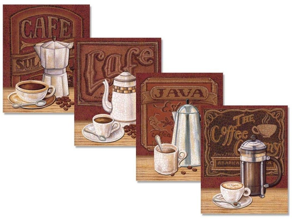 Set of 4 Classic Coffee House Percolator Art Prints Only $7.50!