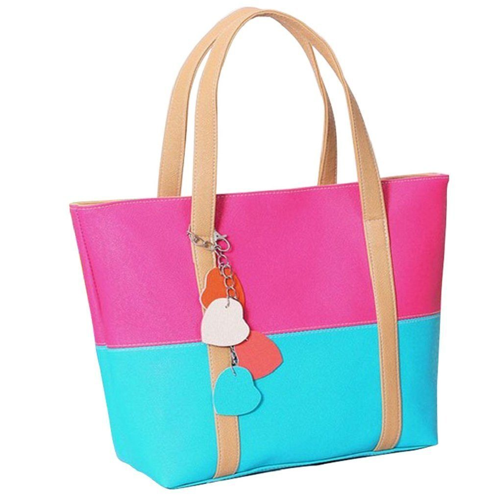 Color Block Shoulder Bag Just $7.20 + FREE Shipping!
