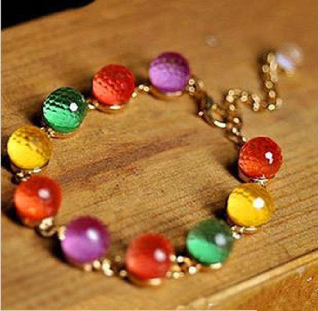 Colorful Crystal Bead Bracelet Just $2.32 Shipped!