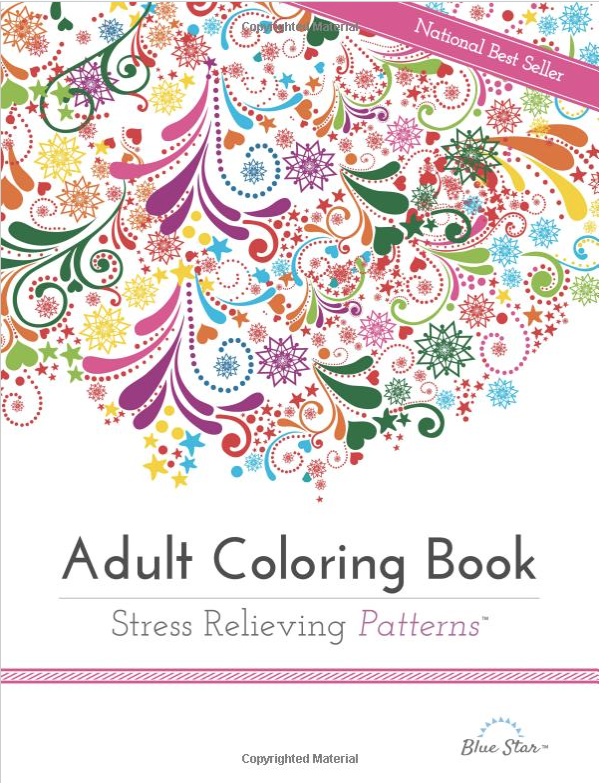 Adult Coloring Book: Stress Relieving Patterns Only $8.32!