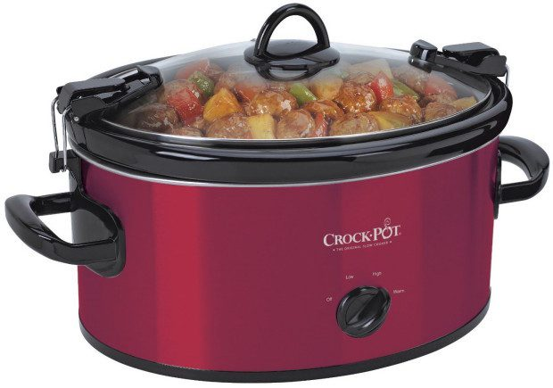 Crock-Pot 4 Qt Cook & Carry Slow Cooker, Red Stainless Steel Just $24.50! (Reg. $40!)