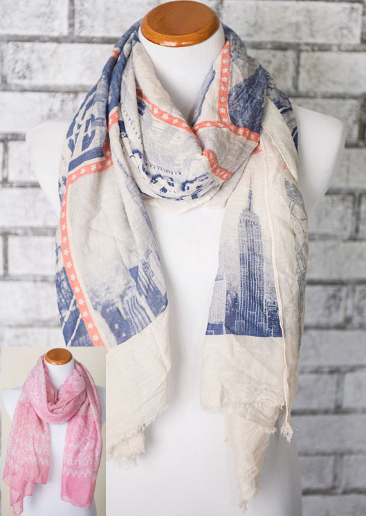 Landmark-City Print Scarf Only $14.95!