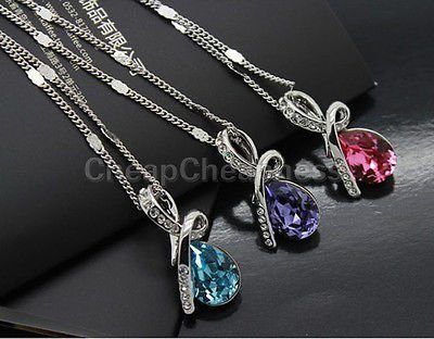 Crystal Drop Necklace Only $2.12 SHIPPED!