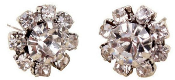 Crystal Flower Stud Earrings Only $2.05 SHIPPED!