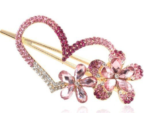 Crystal Heart Hair Pin Only $2.73 SHIPPED!