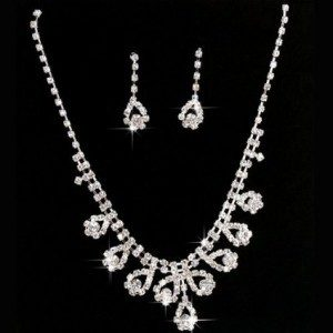 Crystal Necklace And Earrings Set Just $4.74 + FREE Shipping!