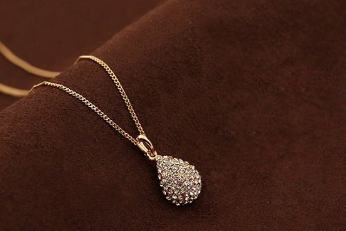Crystal Teardrop Necklace Only $3.10 SHIPPED!