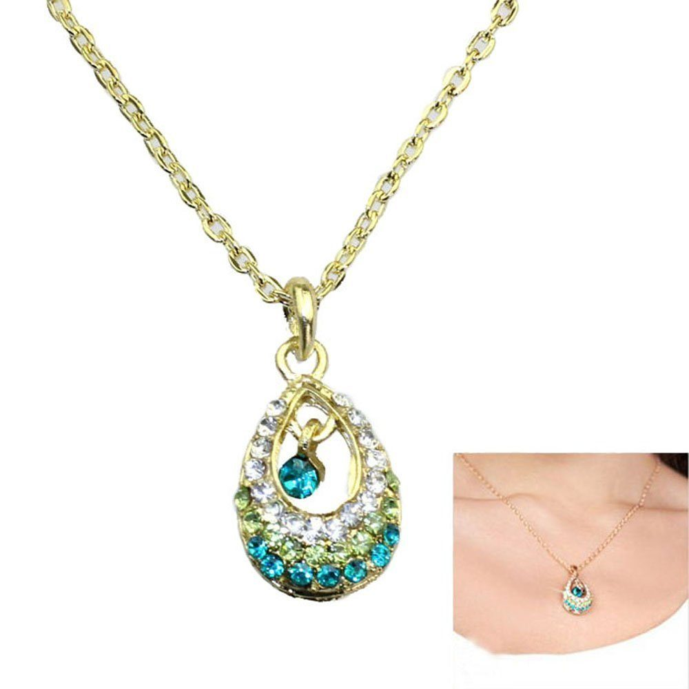 crystal waterdrop necklace